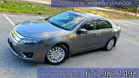 2010 Ford Fusion Hybrid for sale at Wheeler Dealer Inc. in Acton MA