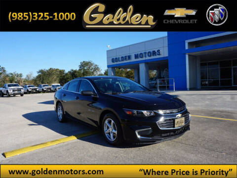 2016 Chevrolet Malibu for sale at GOLDEN MOTORS in Cut Off LA