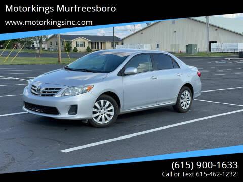2013 Toyota Corolla for sale at Motorkings Murfreesboro in Murfreesboro TN