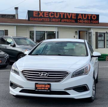 2017 Hyundai Sonata for sale at Executive Auto in Winchester VA