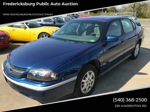 2003 Chevrolet Impala for sale at FPAA in Fredericksburg VA