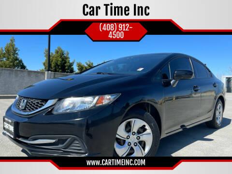 2015 Honda Civic for sale at Car Time Inc in San Jose CA