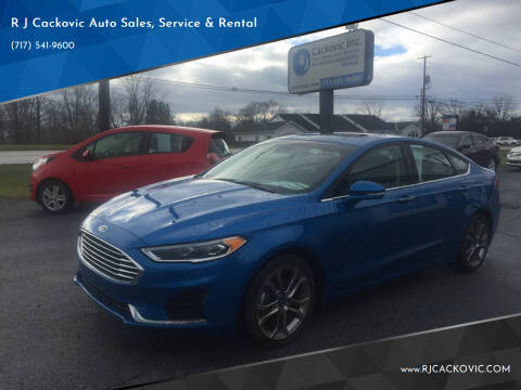 2020 Ford Fusion for sale at R J Cackovic Auto Sales, Service & Rental in Harrisburg PA
