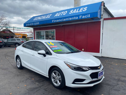 2016 Chevrolet Cruze for sale at Gonzalez Auto Sales in Joliet IL