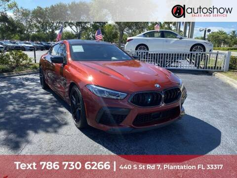 2021 BMW M8 for sale at AUTOSHOW SALES & SERVICE in Plantation FL