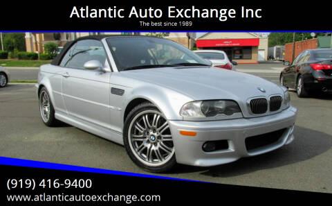 2003 BMW M3 for sale at Atlantic Auto Exchange Inc in Durham NC