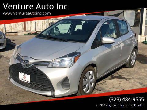 2015 Toyota Yaris for sale at Venture Auto Inc in South Gate CA