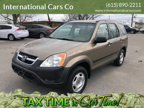 2003 Honda CR-V for sale at International Cars Co in Murfreesboro TN