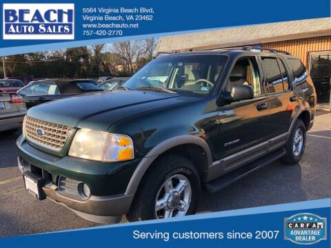2002 Ford Explorer for sale at Beach Auto Sales in Virginia Beach VA