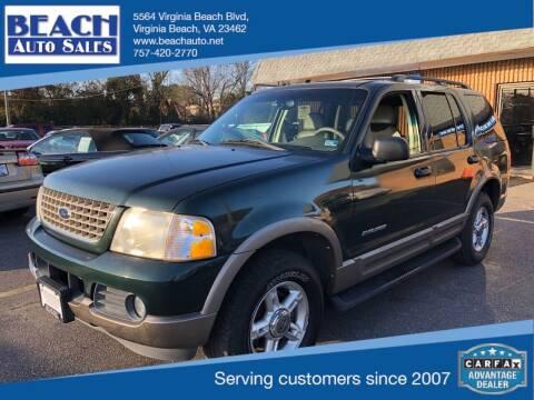 2002 Ford Explorer for sale at Beach Auto Sales in Virginia Beach VA