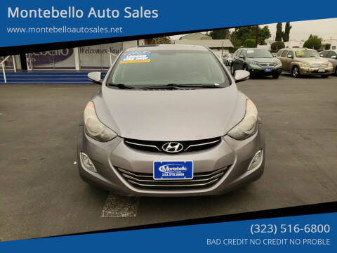 2013 Hyundai Elantra for sale at Montebello Auto Sales in Montebello CA