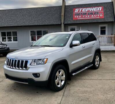 2013 Jeep Grand Cherokee for sale at Stephen Motor Sales LLC in Caldwell OH