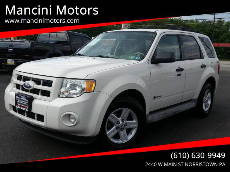 2010 Ford Escape Hybrid for sale at Mancini Motors in Norristown PA