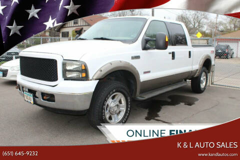 2005 Ford F-350 Super Duty for sale at K & L Auto Sales in Saint Paul MN