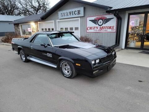 1984 Chevrolet El Camino for sale at CRUZ'N MOTORS - Classics in Spirit Lake IA