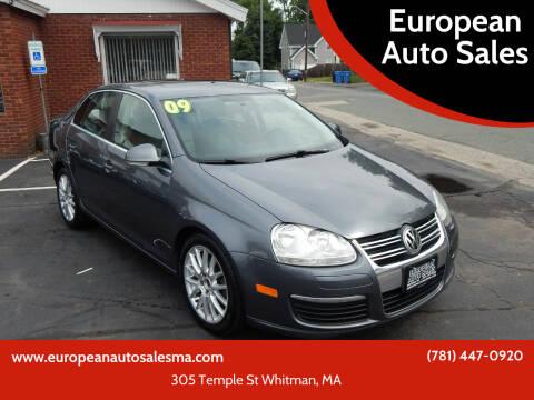 2009 Volkswagen Jetta for sale at European Auto Sales in Whitman MA