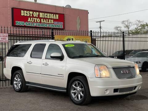 2011 GMC Yukon XL for sale at Best of Michigan Auto Sales in Detroit MI