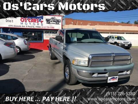1998 Dodge Ram Pickup 1500 for sale at Os'Cars Motors in El Paso TX