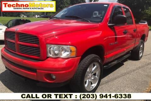 2004 Dodge Ram Pickup 1500 for sale at Techno Motors in Danbury CT