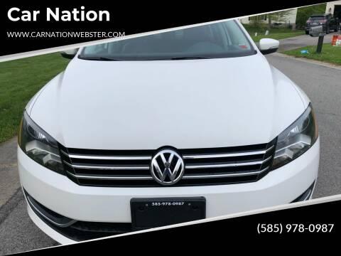 2013 Volkswagen Passat for sale at Car Nation in Webster NY