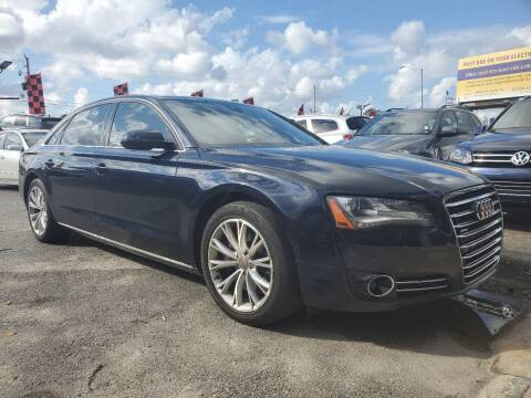 2011 Audi A8 L for sale at America Auto Wholesale Inc in Miami FL
