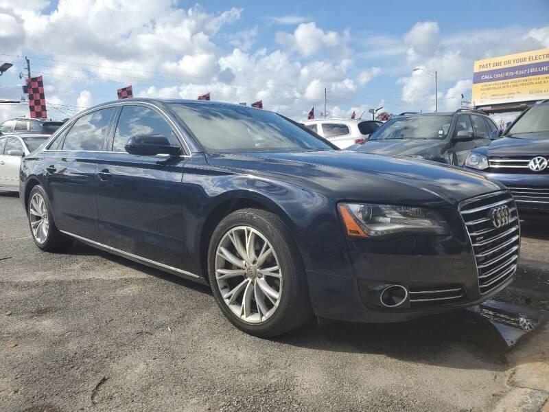 2011 Audi A8 L for sale at America Auto Wholesale Inc in Miami FL