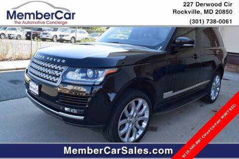 2014 Land Rover Range Rover for sale at MemberCar in Rockville MD