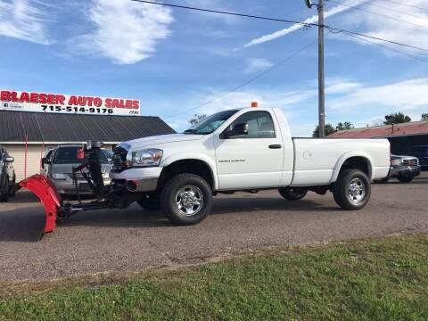 2004 Dodge Ram Pickup 2500 for sale at BLAESER AUTO LLC in Chippewa Falls WI