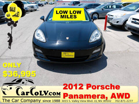 2012 Porsche Panamera for sale at The Car Company in Las Vegas NV