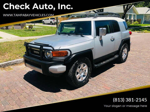 2007 Toyota FJ Cruiser for sale at CHECK  AUTO INC. in Tampa FL