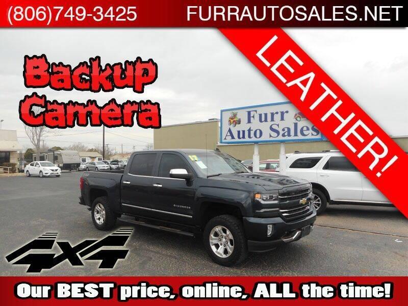 2017 Chevrolet Silverado 1500 for sale at FURR AUTO SALES in Lubbock TX