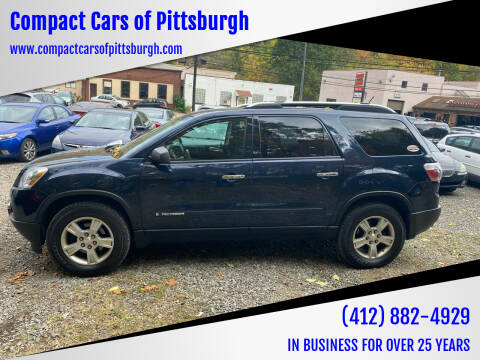 2008 GMC Acadia for sale at Compact Cars of Pittsburgh in Pittsburgh PA