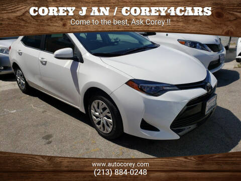 2017 Toyota Corolla for sale at WWW.COREY4CARS.COM / COREY J AN in Los Angeles CA