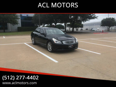 2007 Infiniti G35 for sale at ACL MOTORS in Austin TX