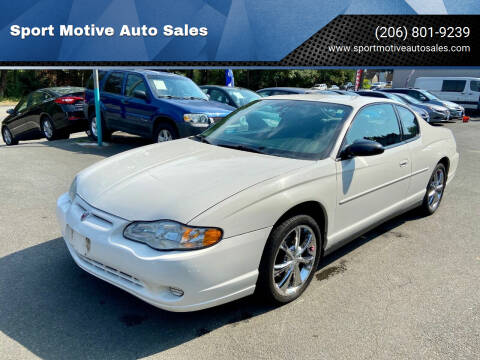 2004 Chevrolet Monte Carlo for sale at Sport Motive Auto Sales in Seattle WA