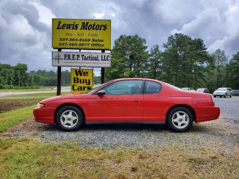 2005 Chevrolet Monte Carlo for sale at Lewis Motors LLC in Deridder LA