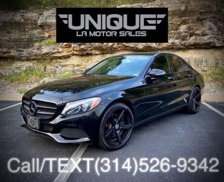 2015 Mercedes-Benz C-Class for sale at Unique LA Motor Sales LLC in Byrnes Mill MO