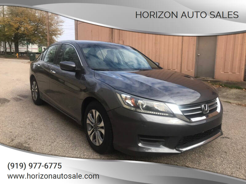 2015 Honda Accord for sale at Horizon Auto Sales in Raleigh NC