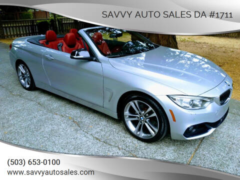 2014 BMW 4 Series for sale at SAVVY AUTO SALES DA #1711 in Portland OR