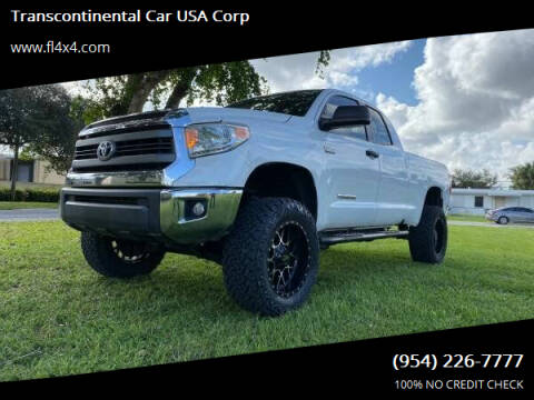 2014 Toyota Tundra for sale at Transcontinental Car USA Corp in Fort Lauderdale FL