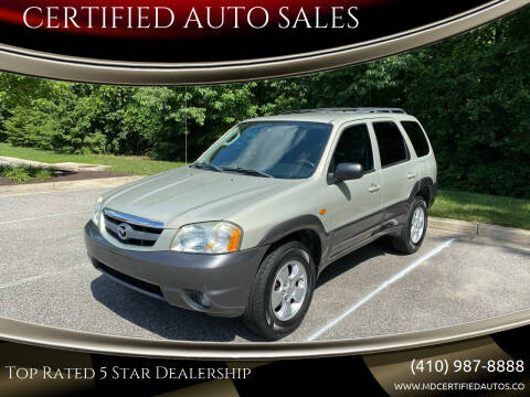 2004 Mazda Tribute for sale at CERTIFIED AUTO SALES in Severn MD