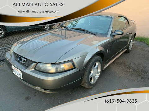 2002 Ford Mustang for sale at ALLMAN AUTO SALES in San Diego CA