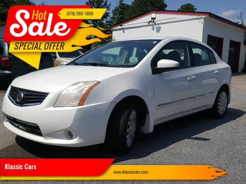2012 Nissan Sentra for sale at Klassic Cars in Lilburn GA