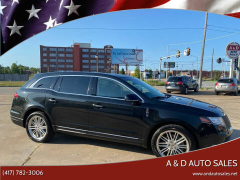 2015 Lincoln MKT for sale at A & D Auto Sales in Joplin MO