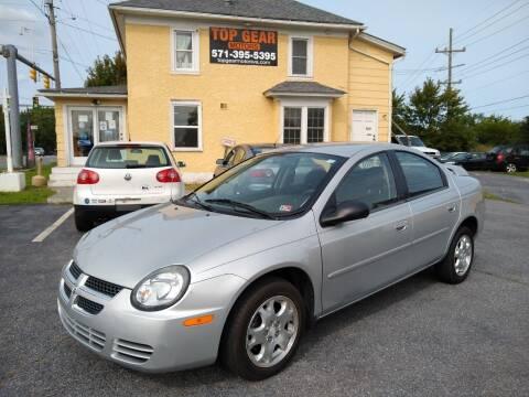 2003 Dodge Neon for sale at Top Gear Motors in Winchester VA