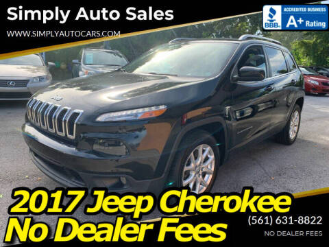 2017 Jeep Cherokee for sale at Simply Auto Sales in Palm Beach Gardens FL