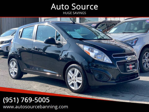 2015 Chevrolet Spark for sale at Auto Source in Banning CA