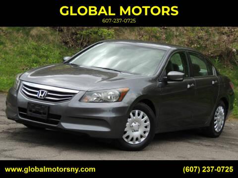 2011 Honda Accord for sale at GLOBAL MOTORS in Binghamton NY