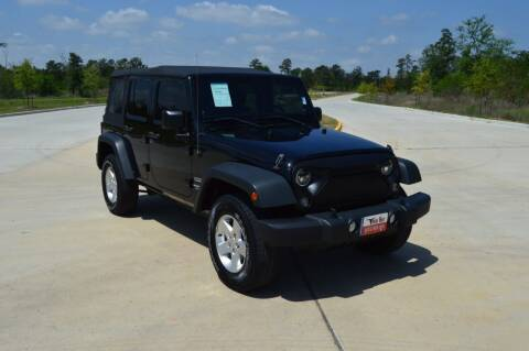 2014 Jeep Wrangler Unlimited for sale at Fincher's Texas Best Auto & Truck Sales in Tomball TX