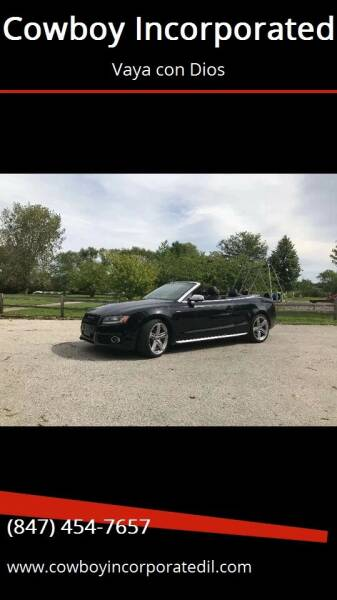 2012 Audi S5 for sale at Cowboy Incorporated in Waukegan IL